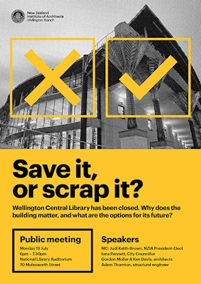 Save it, or scrap it – poster for Wellington Library